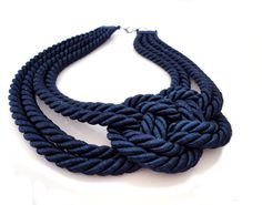 Cute nautical rope necklace!