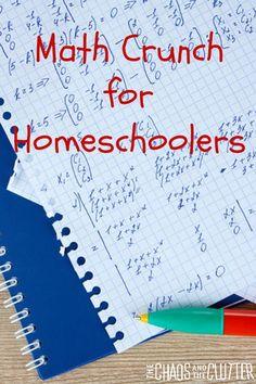 How Using Math Crunch can help you as a homeschooler