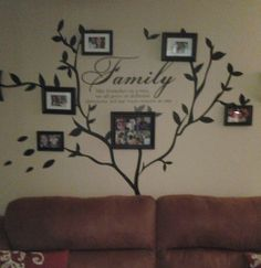Wall Decor  Family Photo Collage  Custom Photo Canvas  Heart - Custom vinyl wall decals sayings for family room
