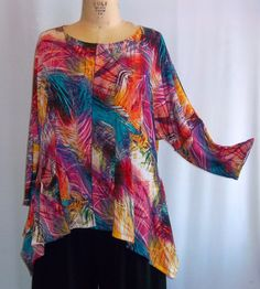 I love this with a really long tank underneath for color and to add length  - all lover a shark-bite tunic tank in black with leggings for the winter and white tank in the summer. Hot pink or turq jeans finish it off