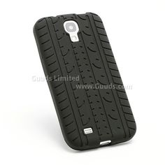 Tyre Pattern Silicone Skin Case for Samsung Galaxy S 4 IV i9500 i9505 - Black - Galaxy S4 i9500 Silicone Case / Galaxy S4 Silicone Cover - Guuds Online Wholesale - Mobile Phone Accessories - Mobile Parts from China