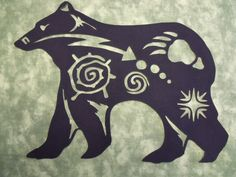"Native American Bear Symbol Silhouette - comes In 3 sizes 8""H; 9""H & 10""H"