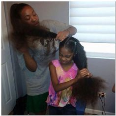 """Mother and daughter, some ppl say """"balling"""" out of control, i say hair growing out of control over my unborn daughter in jesus' name. Amen. !!!!"""