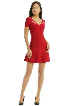 Want to lose 15 lbs and wear this to @Melissa Tyler wedding! @Aleece Goossen Hervé Léger Spellbinding Red Dress