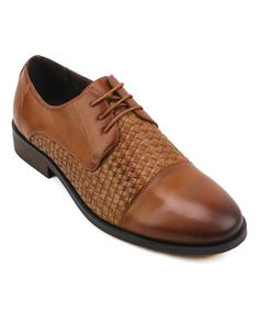 Loving this Tan Wovener Cap-Toe Oxford on #zulily! #zulilyfinds