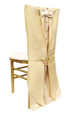 Tuxedo Champagne Chair Sleeve - Wildflower Linen