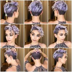 Today we have the most stylish 86 Cute Short Pixie Haircuts. We claim that you have never seen such elegant and eye-catching short hairstyles before. Pixie haircut, of course, offers a lot of options for the hair of the ladies'… Continue Reading → Pixie Hairstyles, Pretty Hairstyles, Pixie Haircuts, Girls Shaved Hairstyles, Brown Hairstyles, Purple Hair, Purple Pixie Cut, Pixie Cut Color, Pastel Pixie Hair
