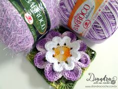 Flor Doçura www.diandracroche.com.br