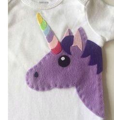 Moldes para hacer apliques de unicornios en fieltro.