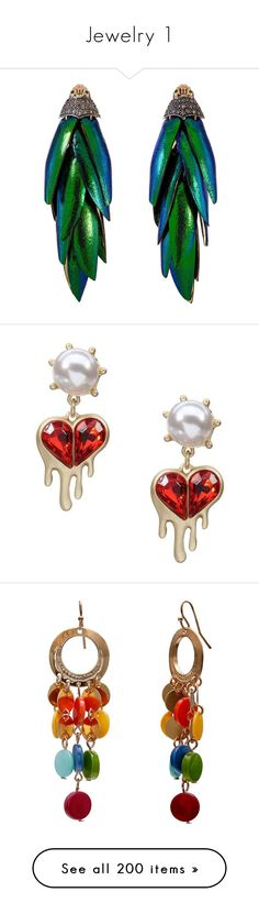 """Jewelry 1"" by majezy ❤ liked on Polyvore featuring jewelry, earrings, dangle earrings, diamond jewellery, wing jewelry, wing earrings, long diamond earrings, yoins, black and brass earrings"