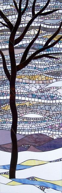 Could be used as inspiration for a mixed media, paper mosaic type piece.