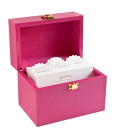 Sugar Paper Recipe Box