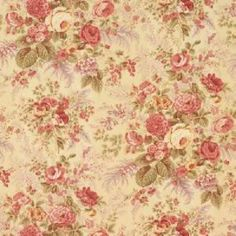 Lemondrop Floral Decorator Fabric by Vervain Floral Upholstery Fabric, Drapery Fabric, Fabric Decor, Chair Upholstery, Sheer Fabrics, Vintage Floral Fabric, Vintage Flowers, Making Cold Brew Coffee, Vintage Floral Wallpapers