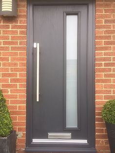 Our Fitters took a photo of this fantastic modern installation we have installed featuring the \u0027Empire\u0027 Composite door design in Anthracite grey ... & Modern and Unique Bloomberg C Design; Composite Door in Black ... Pezcame.Com