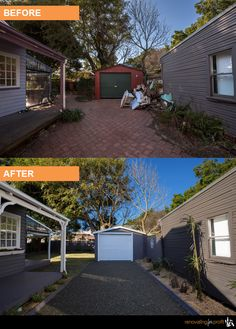 #facade #renovation #outdoorliving See more exciting projects at: www.renovatingforprofit.com.au Renovating For Profit, House Renos, Home Exterior Makeover, Exterior Homes, Outdoor Living, Outdoor Decor, Investment Property, Reno Ideas, House Front