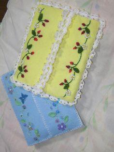 porta lenço de feltro