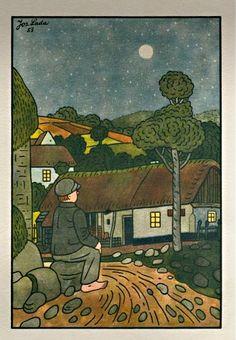 1953 Book Illustrations, Children's Book Illustration, European Countries, Nocturne, Czech Republic, Old Houses, Childrens Books, Illustrators, Watercolour