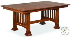 Singita Amish Trestle Dining Table - Countryside Amish Furniture