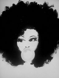 afro chic - I really like this drawing.