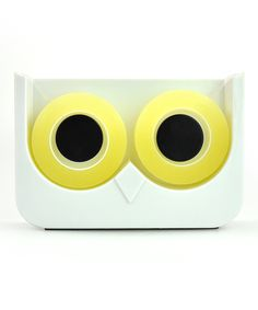 Look at this Owl Tape Dispenser by Mustard Cute Office Supplies, Tape Dispenser, Paper Goods, Good Things, Funny Things, Whimsical, Gadgets, Stationery, Objects