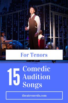 Make em' laugh tenors! 15 Overlooked Comedic Audition Songs For Tenors #broadway #tenors #auditionsongs #auditions #tenor