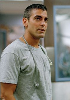 """George Clooney in """"ER"""" that's when it started."""