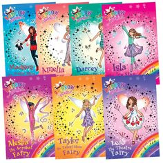 Book Bundles presents Rainbow Magic Showtime Fairies 7 Books BOXED Set at Best Price. Title in this book set includes: * Taylor the talent show Fairy * Isla the ice star Fairy * Amelia the singing Fairy.  #Childrensbooks #kidsbooks #Books