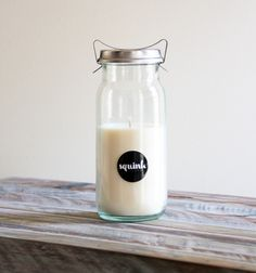 SALE* Vintage Preserve Jar Candle from SQUINK STUDIO