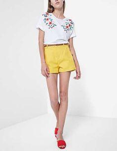 Prezzi e Sconti: #Short elegante senape taglie 36  ad Euro 17.95 in #Shorts #Moda donna