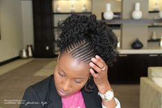 Corn Rows with Marley Hair | Watch Me Style| MahoganyKnots Inspired Updo + Entwine Couture Giveaway ...