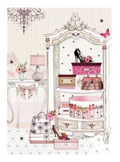 Leading Illustration & Publishing Agency based in London, New York & Marbella. Arte Fashion, Illustration Mode, Decoupage Paper, Belle Photo, Vintage Couture, Paper Dolls, Shabby Chic, Girly, Paper Crafts