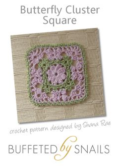 Butterfly Cluster Square (free pattern)