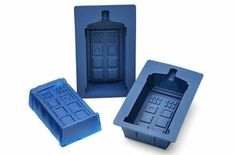"Do you want to eat Jello or Cupcakes Tardis? ""Dr Who TARDIS Silicone Mold Set"" is exactly what you are looking. It Tardis silicone mold made..."