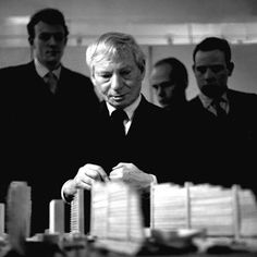 Louis Kahn, taken in 1962, when he visited the Architectural Association. Photo by Roger Whitehouse
