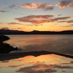 """November Sunset reflected in the open velux """"Sterlingbuild #WinAVELUX"""""""