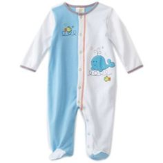 ABSORBA Baby-Boys Newborn Whale Color Blocked Footie $18.00