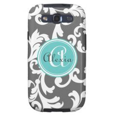>>>Low Price          Gray and Aqua Monogrammed Damask Print Galaxy SIII Cases           Gray and Aqua Monogrammed Damask Print Galaxy SIII Cases online after you search a lot for where to buyThis Deals          Gray and Aqua Monogrammed Damask Print Galaxy SIII Cases please follow the link...Cleck Hot Deals >>> http://www.zazzle.com/gray_and_aqua_monogrammed_damask_print_case-179702860888697234?rf=238627982471231924&zbar=1&tc=terrest