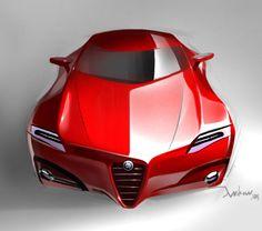 ¿Qué te parece este Alfa Romeo Concept Car? Tiene unas líneas frontales que no pasan desapercibidas. #MásQuePasión