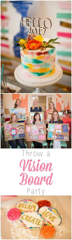 Throw a VISION BOARD PARTY for your friends!! Best way to kick off the New Year. Dream big!