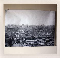 Paris Rooftops Large Format Print by HANDSworkshop snapshot of the Parisian cityscape taken from the top of Jean Nouvel's l'institut du Monde arabe in the heart Paris. - $25