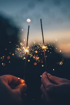 Fireworks and sparklers
