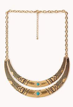 Globetrotter Curved Bib Necklace   FOREVER21 - 1000107639  9.80