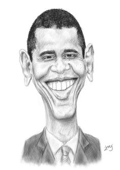 Barack Obama #Caricature #FunnyFaces