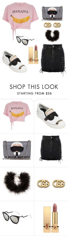 """""""THE PINK PANTHER"""" by ismail-archible ❤ liked on Polyvore featuring River Island, Fendi, Topshop, Frasier Sterling, Gucci and Yves Saint Laurent"""