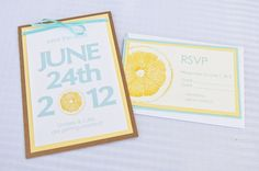 Lemon Wedding Invitation