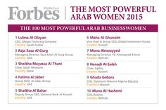 Most Powerful Arab Women 2015: Laying the foundations for future generations | Forbes Middle East