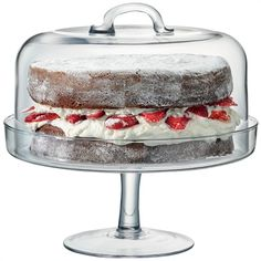 LSA Serve Cake Stand & Dome Home - Dining & Entertaining - Serveware - Bloomingdale's Cake Stand With Dome, Cake Dome, Cake Stands, Jasmine Cake, Serveware, Tableware, Cake Pedestal, Cake Platter, Glass Cakes
