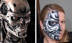 Arcfest s on pinterest for Terminator face tattoo