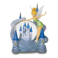 Disney World Tinkerbell Cinderella Castle Snowglobe Disney