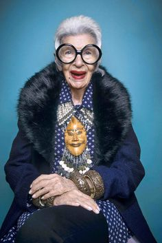 Iris Apfel . This necklace!! Wow Clothing, Shoes & Jewelry: http://amzn.to/2iTBsa9